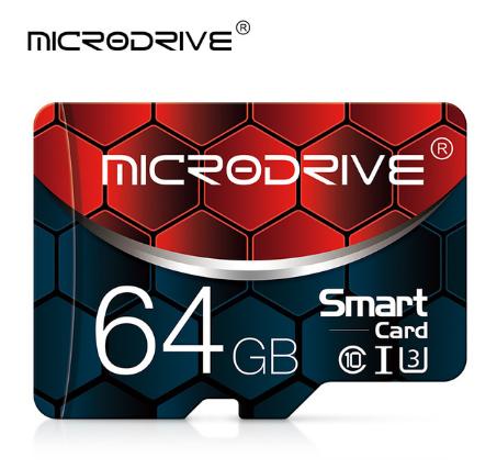 Карта памяти MicroDrive ZQ016 для планшета и телефона Micro SD 64 Gb