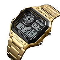 Мужские часы Skmei 1335 S Ripple золотые