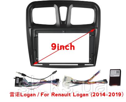 Автомобільна панель рамка для Peugeot Citroen Renault і кабель живлення для андроїд магнітол