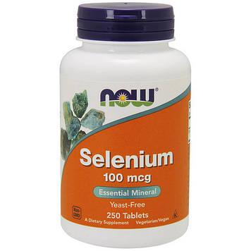 Селен (L-селенметионин) Now Foods Selenium 100 mcg (250 tab)