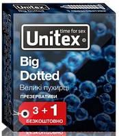 Презервативы Unitex Big Dotted  №3+1 большие пузырьки