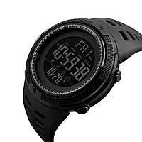 Мужские часы водонепроницаемые 5 атм Skmei 1251 Amigo черные спортивные