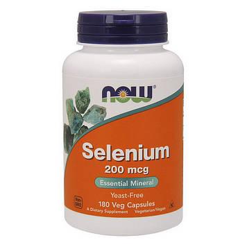 Селен (L-селенметионин) Now Foods Selenium 200 mcg (180 veg caps)