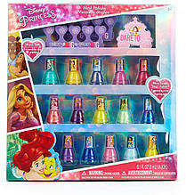 Детская косметика лак для ногтей Принцессы Дисней 15 шт на водной основе TownleyGirl Disney
