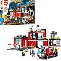 """Детский конструктор """"Пожарный участок"""", Qman 2808, 523 детали, в коробке"""