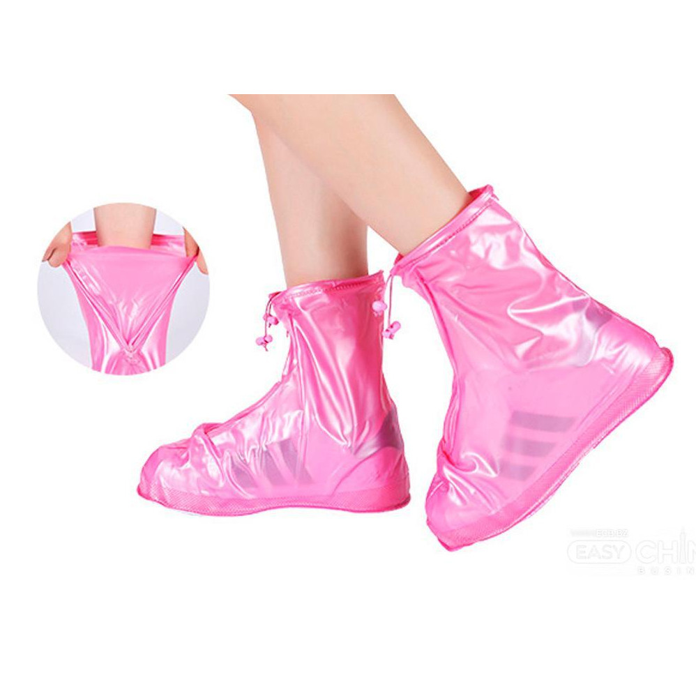 Бахилы для обуви от дождя и грязи Розовые L