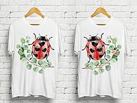 """Парные футболки с принтом """"Божьи коровки"""" Push IT"""