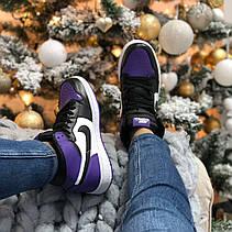 Женские кроссовки Air Jordan 1 Retro High Court Purple 555088-501, фото 3