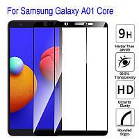 Защитное стекло с рамкой для Samsung Galaxy A01 Core