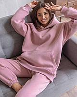 Женский тёплый спортивный оверсайз костюм в красивых расцветках