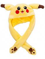Светящаяся шапка Pikachu toys soft toys with led с двигающими ушками (200)