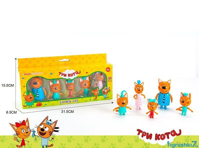 Набор героев Три кота M 8811  5 персонажей, в коробке