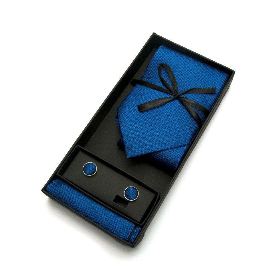 Набір 3 в 1, краватка + хустинка + запонки ZD-1004