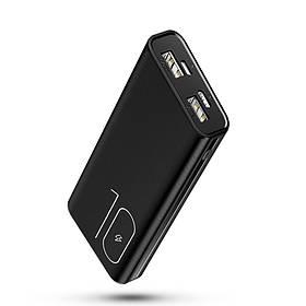 УМБ Power Bank Usams 10000 mAh mini 2xUSB, входы Micro USB/USB Type-C Черный  КОД: 2117