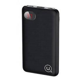 УМБ Power Bank Usams 10000 mAh mini 1xUSB, входы Micro USB/USB Type-C Черный  КОД: 2122