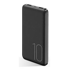 УМБ Power Bank Usams 10000 mAh mini 2xUSB, вход Micro USB Черный  КОД: 2125