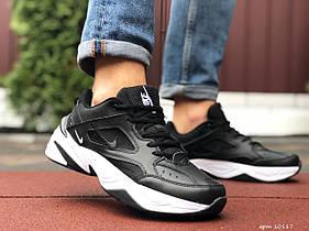 Мужские кроссовки Nike M2K Tekno, чорні з білим / чоловічі кросівки Найк (Топ реплика ААА+)