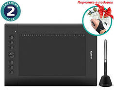 Графічний планшет Huion H610Pro V2 + рукавичка