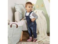 Дитячий комбінезон джинсовий від 0-1 року 62-68 зростання, фото 1