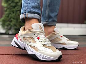 Мужские кроссовки Nike M2K Tekno, бежевые / чоловічі кросівки Найк (Топ реплика ААА+)