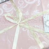 Комплект постельного белья сатин жаккард с кружевом семейный Bella Villa J- 0060, фото 3