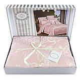 Комплект постельного белья сатин жаккард с кружевом семейный Bella Villa J- 0060, фото 2