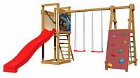 Дитячий спортивний дерев'яний майданчик SportBaby-6, розмір 2,4х 3,6 х 4 м, фото 1