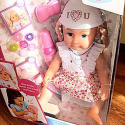 Кукла функциональная с длинными волосами с аксессуарами 7 функций в коробке / лялька для дівчинки