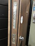 Двери металлические входные квартирные Магда 612/13 графит/спил дерева медовый, фото 2
