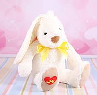 """Мягкая игрушка зайчик """"Ирен"""", плюшевый заяц, белый, 23 см., фото 1"""