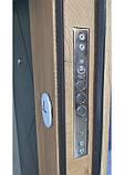 Двери металлические входные квартирные Магда 612/13 графит/спил дерева медовый, фото 5
