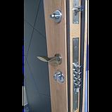 Двери металлические входные квартирные Магда 612/13 графит/спил дерева медовый, фото 4