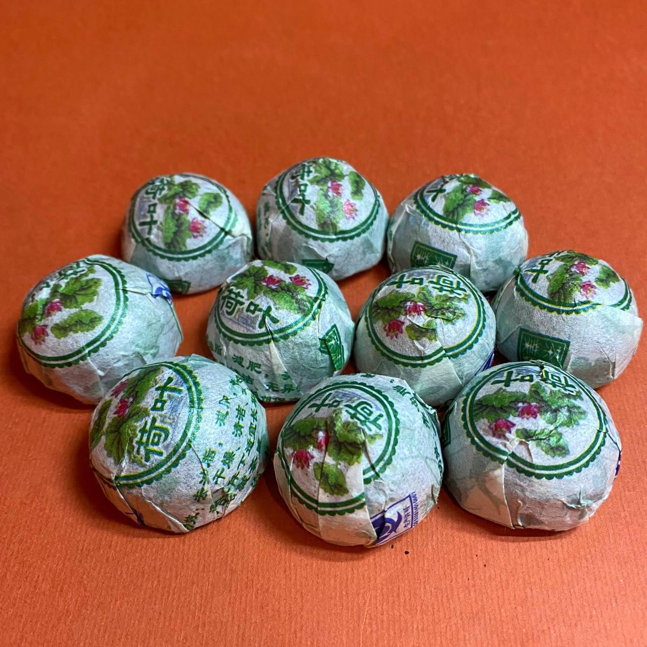 Шу пуэр с хризантемой мини точа 5 грамм 10 шт