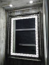 Зеркало в багетной раме с подсветкой Napoli 700*1000мм, фото 2