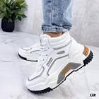 Демисезонные женские белые кроссовки, экокожа 38 ПОСЛЕДНИЙ РАЗМЕР, фото 2