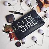 """Сумочка жіноча чорна дорожня з стильним узором """"Нічне місто"""", фото 2"""