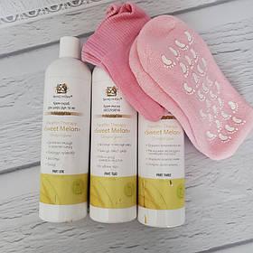 Спа набор SkinLoveSpa для сухой кожи рук и ног с гелевыми аксессуарами  КОД: 0757675789