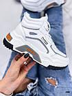 Демисезонные женские белые кроссовки, экокожа 38 ПОСЛЕДНИЙ РАЗМЕР, фото 10