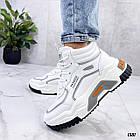 Демисезонные женские белые кроссовки, экокожа 38 ПОСЛЕДНИЙ РАЗМЕР, фото 3