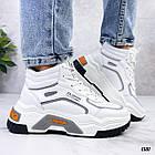 Демисезонные женские белые кроссовки, экокожа 38 ПОСЛЕДНИЙ РАЗМЕР, фото 4