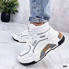 Демисезонные женские белые кроссовки, экокожа 38 ПОСЛЕДНИЙ РАЗМЕР, фото 5