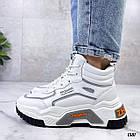 Демисезонные женские белые кроссовки, экокожа 38 ПОСЛЕДНИЙ РАЗМЕР, фото 6