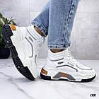 Демисезонные женские белые кроссовки, экокожа 38 ПОСЛЕДНИЙ РАЗМЕР, фото 7