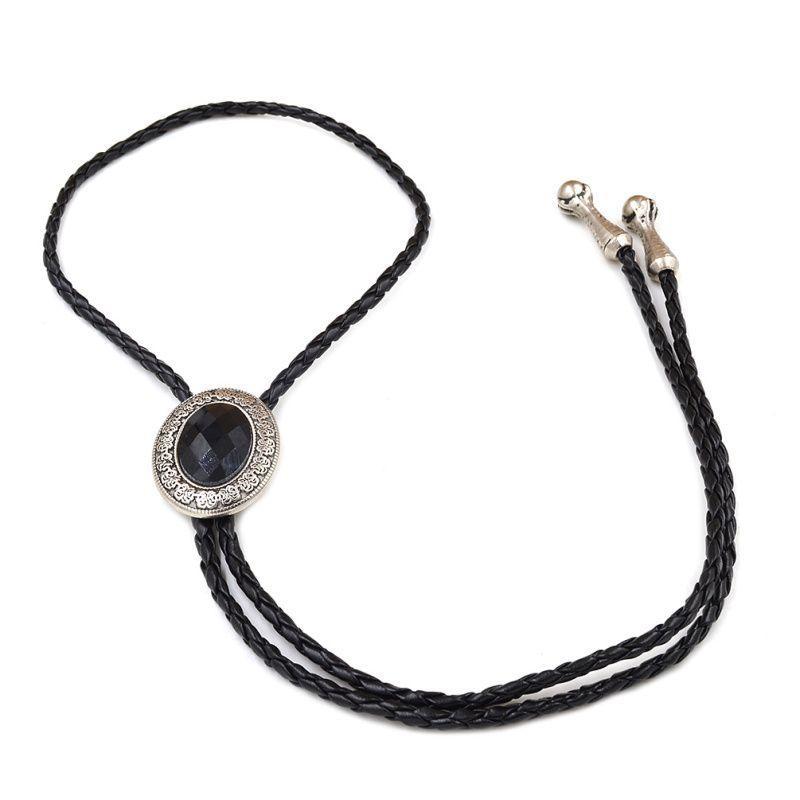 Краватка Боло Gofin чорний камінчик BOLO-52036