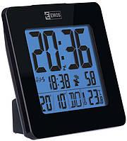 Электронные LED часы-будильник EMOS настольные, с подсветкой и термометром Черный КОД: E0113