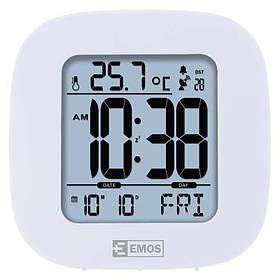 Электронные LED часы-будильник EMOS настольные, с подсветкой и термометром Белый КОД: E0126