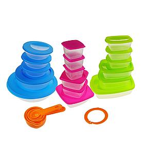 Великий набір контейнерів різної форми для продуктів і їжі - 18 шт Super Easy Open КОД: 5821