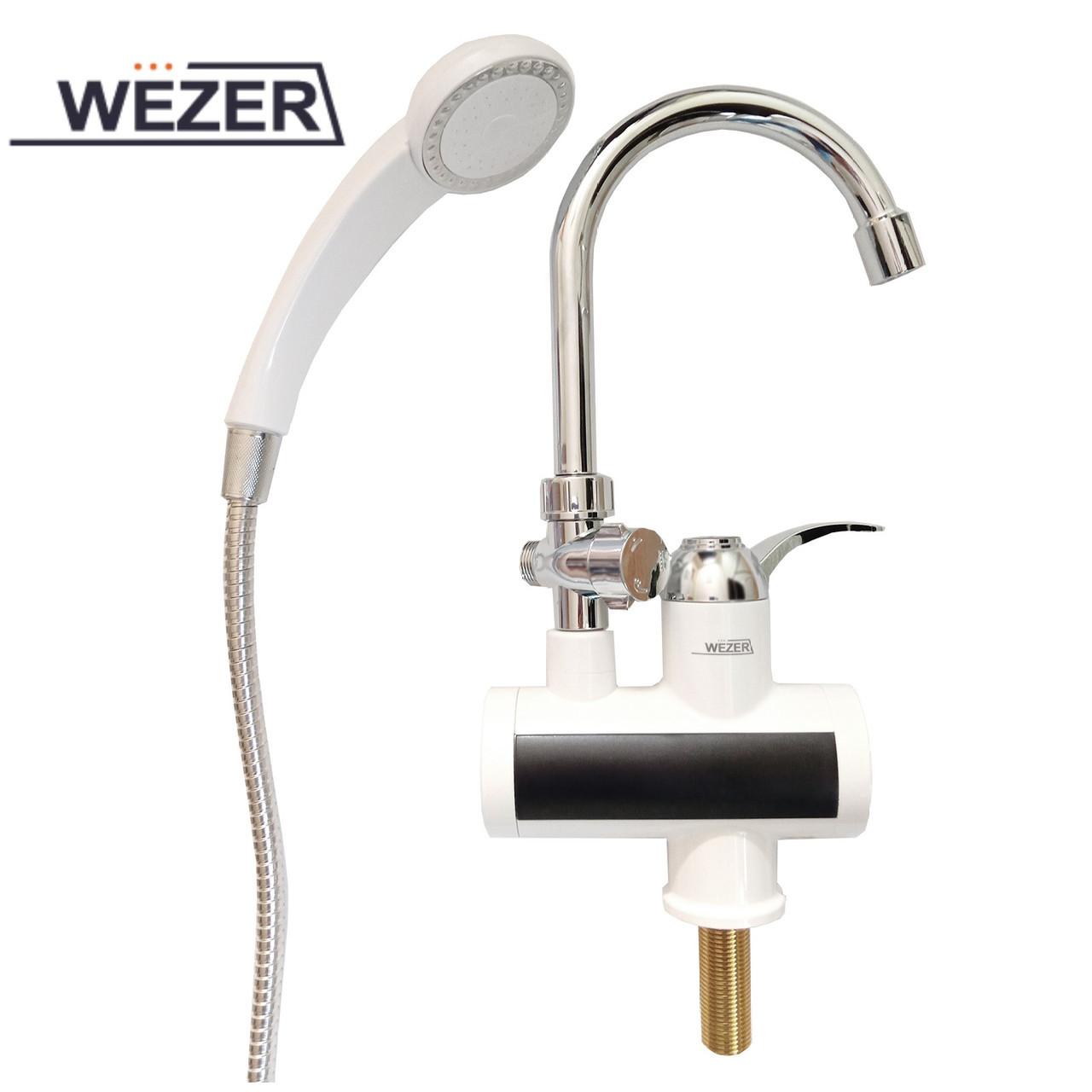 Проточный водонагреватель с душем Wezer SDR-B15ST (с датчиком температуры)