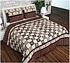 """Двуспальное постельное белье """"Луивитон коричневый"""""""