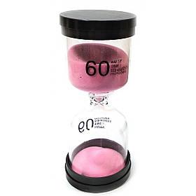 Годинник пісочний на 60 хвилин Duke 13х5.5х5.5 см рожевий пісок КОД: DN32073